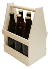 Flaschenträger aus Holz, Sixpack, Männerhandtasche, Bierträger
