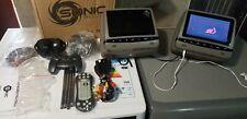 """SONIC 2X7"""" Digital LCD TFT  Screen CAR Headrest DVD Player Pillow Monitor, HR7A#"""