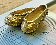 Solid Gold Slippers, Pumps Vintage Charm - great quality - Full UK Hallmarks #C1