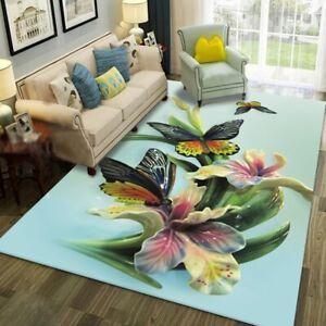 4D Butterfly Time Lasts  Doormat Door Mat Dining Room Carpet Floor Mat