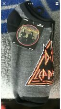 DEF LEPPARD  NO SHOW Socks ( 5 PAIR ) 80s rock band size 9-11  licensed product
