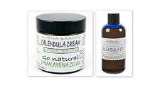 Calendula Set 100ml Oil & 60 cream Varicose Veins, Cuts,Grazes,Scars,Stretchmark
