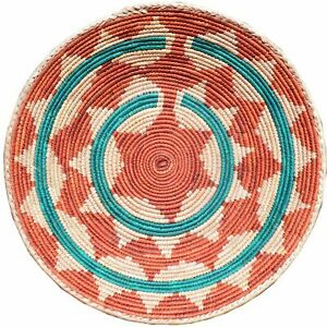 """13"""" to 15"""" Inches Wide Hand-Woven Southwestern Design Basket Handmade Cwbsf-510"""