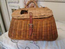Vintage Fishing Creel Fly Wicker Basket Trout