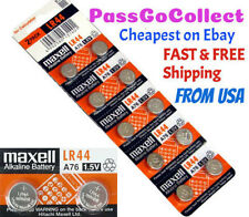 NEW 10 Genuine Maxell LR44 (A76) 357 1.5V Alkaline Coin Cell Button Batteries