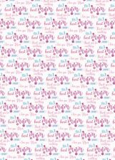 2 x Mum Wrapping Paper Birthday/ Mother's Day Best Mum Ever Giftwrap (PA)