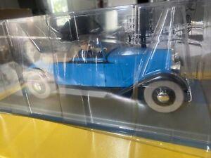 Tintin voiture auto La décapotable de Gibbons 1/24 Hachette 46 + fascicule