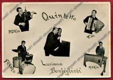 LUCIANO BONFIGLIOLI 01 QUINTETTO MUSICA MUSIC SINGER FERRARA Postcard REAL PHOTO