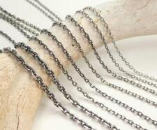 Oxidized Sterling Silver Linked Chain Necklace 1.5mm 2mm 3mm 45cm 50cm 55cm 60cm