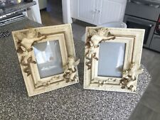 Vintage Pair Of Ornate French Style Photo Frame with Cherubs
