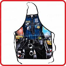 APRON-ATTITUDE FUNNY-POLICE MAN OFFICER COP-KITCHEN-COOKING-PARTY-COSTUME-BBQ