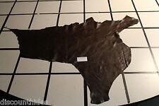 'Brownie Batter' leather hide. Med grain, med sheen.  Appx 7 sqft C41A2-5