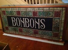 Bonbons - circa 1900 stained glass window from a Pa. candy store