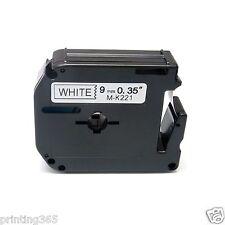 Beschriftungsband kompatibel zu Brother P-touch M-K221 MK221 8m/9mm PT110 PT70