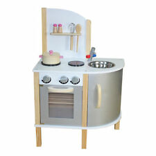 """Little Chef"" Contemporary Wooden Toy Kitchen - Grey"