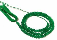 """5 Strand Natural Green Onyx Rondelle 3.5-4mm Faceted Gemstone Beads 13""""Inch"""