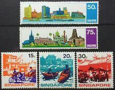 SINGAPORE 1971 TOURISM ASEAN YEAR SG 150 - 154 MNH OG