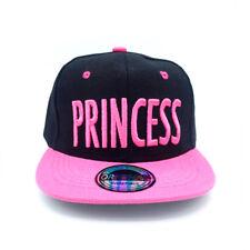 Snapback Cappy Cap Kappe Mütze Kinder Basecap Princess Pink Schwarz Kids klein