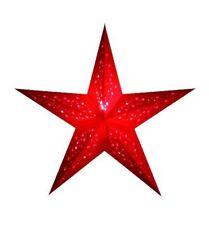 faltbarer Papierstern Leuchtstern Weihnachtsstern Galaxylights Rot 64 cm
