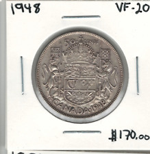 Canada 1948 Silver 50 Cents VF20 Lot#2