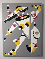 """Russian Avant- Garde Painting Style Geometric Abstraction Canvas Acrylic 36""""×..."""