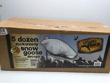 New White Rock Decoy Rockonomy Snow Goose Wind Sock Hunting Decoys 5 Dozen