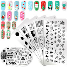 NICOLE DIARY Nail Art Stamping Plates Christmas Flower Manicure Image Templates