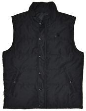Men's Channel Islands Surf Check Vest Jacket Charcoal Black Large L
