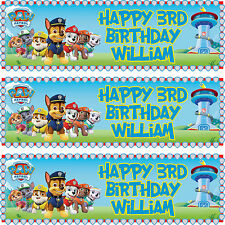 2 x personalized birthday banner party PAW Patrol boys girls any name ages