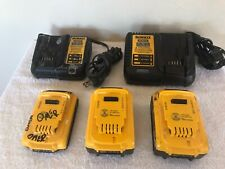 Pre Owned Dewalt 20v 5ah Max Lithium Ion Batteries Chargers Dcb205 Dcb204 Dcb115