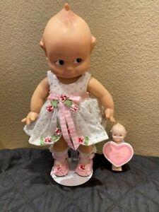 "2 Kewpie Dolls Jesco Cameo Coll 12"" & 4"" Charisma Spring Easter Dress Flowers"