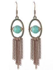 Natural Stone Fringe Dangle Earrings