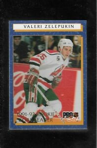 1992-93 PRO SET ROOKIE GOAL LEADER # 10 VALERI ZELEPUKIN !!