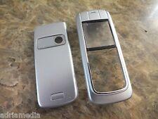 OEM Front Back Cover für Nokia 6020  6021  NEU silber Silver Housing Handyschale