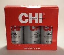 CHI Thermal Care 3 Bottles 6 fl oz Infra Treatment Silk Infusion infra Shampoo