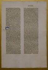 Original Blatt aus der KOBERGER BIBEL 1475, Nürnberg, rubriziert Inkunabel 7