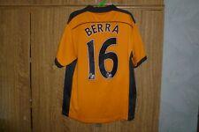 New ListingWolverhampton Wanderers Burrda Football Shirt 2010 2011 Home  16  Berra Size M 3807236e6