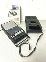 Vintage 1979 Sanyo Cassette Recorder M2511G WITH CASE - SPARES OR REPAIR