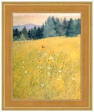 MONARCH BUTTERFLY In Daisies  Framed 16x20 Giclee Canvas **SALE