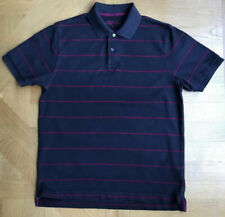 Charles Tyrwhitt  Mens Polo, M Colour Dark Grey Fushia Stripe