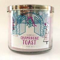 NEW 1 BATH & BODY WORKS CHAMPAGNE TOAST SCENTED 3-WICK 14.5 OZ LARGE CANDLE