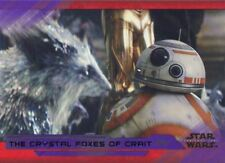 Star Wars Last Jedi S2 Purple Base Card #80 The Crystal Foxes of Crait