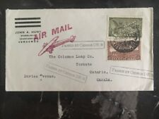 1945 Veracruz Mexico Censored Airmail Cover To Toronto Canada Coleman Lamp Co