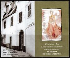 GIBRALTAR MNH 1997 MS816 CHRISTIAN DIOR SPRING/SUMMER COLLECTION MINISHEET