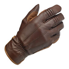 Biltwell Work Motorrad Handschuhe, Echtleder, braun Größe XXL