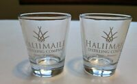 Set of 2 Haliimaile Distilling Co,  Maui, Hawaii Shot Glasses Pineapple Logo