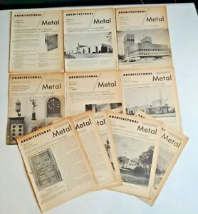 Architectural Metal, Set of 11 Bulletins, National Association Ornamental Metal