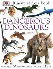 Ultimate Sticker Book: Dangerous Dinosaurs By DK *FREE SHIPPING*
