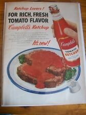 Original 1952 Campbell's Tomato Ketchup Magazine  Ad