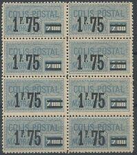 1926 FRANCE COLIS POSTAUX N°41** en BLOC DE 8 CP Cote:120€, 1°CHOIX/TB
